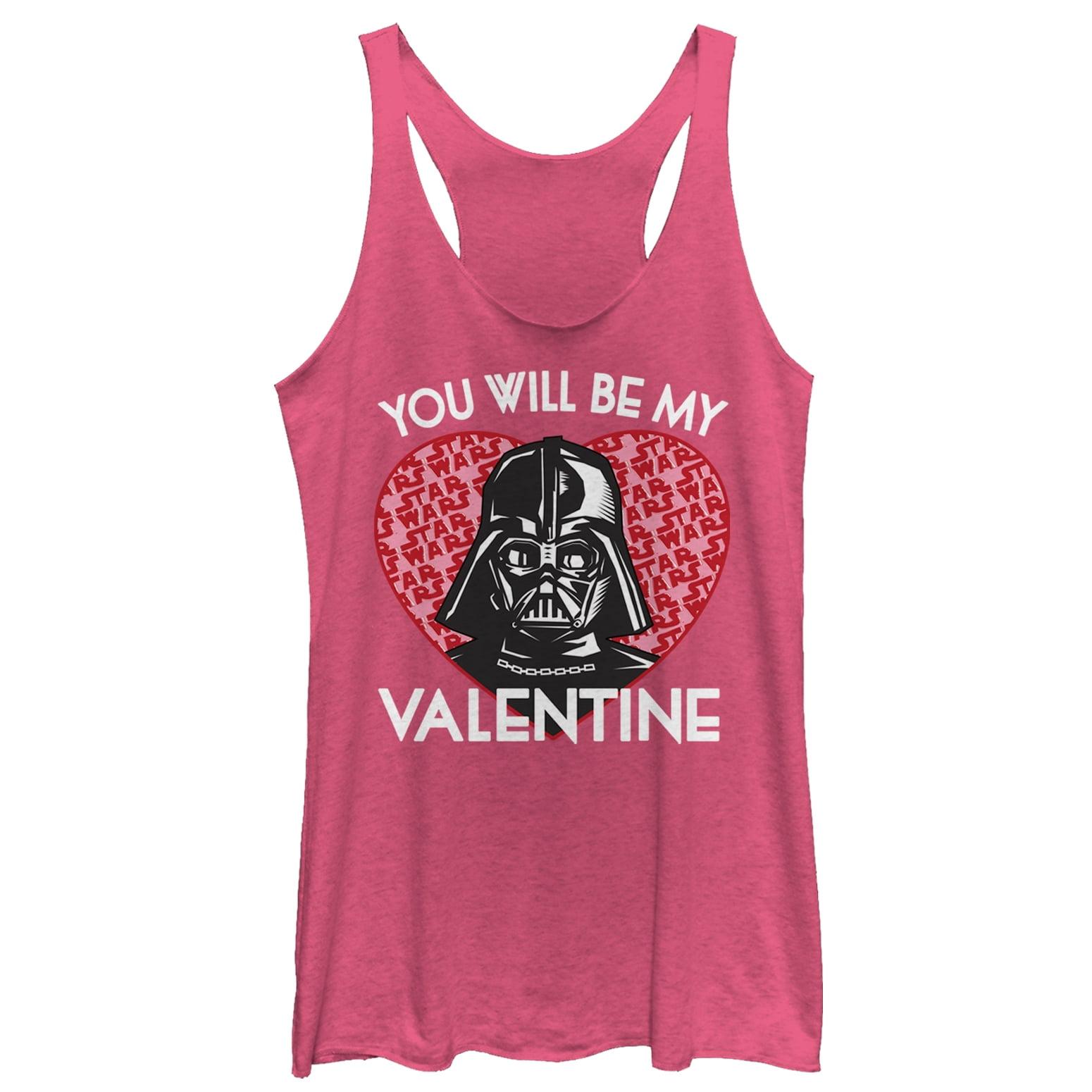 Star Wars Women's Valentine Darth Vader Invitation Racerback Tank Top