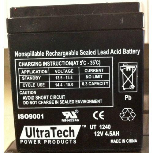Ultratech 1240 12V 4.5Ah Sla Battery