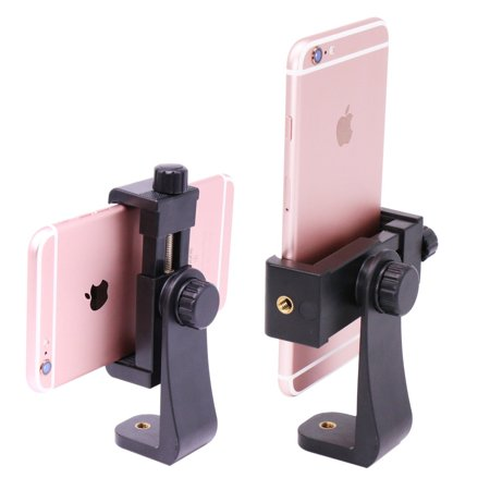 Ulanzi Phone Tripod Mount Adapter/Vertical Bracket Smartphone Holder/Cell Phone Clip Clipper SideKick 360 Degree SmartPhone Video Tripod Clamp for iPhone 7 plus Samsung Android Smart Phones
