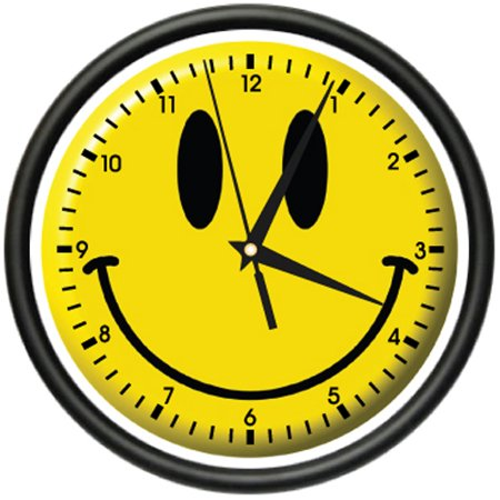 SMILEY FACE Wall Clock happy smilie faces bedroom -