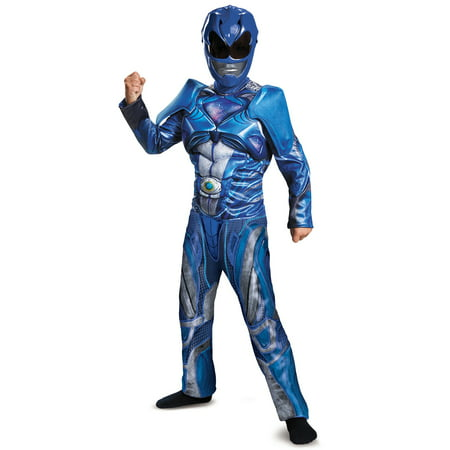 Power Rangers: Blue Ranger Classic Muscle Child - Power Ranger Costumes For Adults