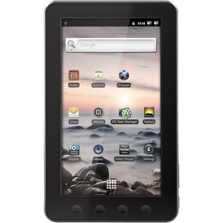 coby kryos 7 color touchscreen tablet pc ebook reader featuring android 2 3 operating system. Black Bedroom Furniture Sets. Home Design Ideas