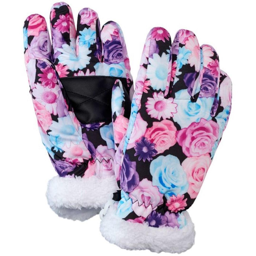 SO Girls Sherpa Trimmed Ski Gloves