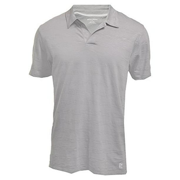 DKNY Jeans Mens Short Sleeve Polo Shirt Large Grey