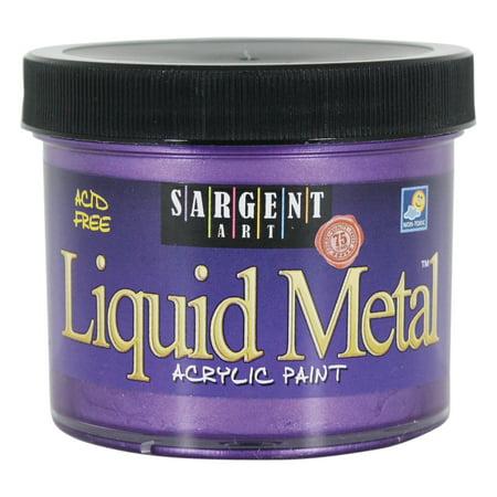 Sargent Art Liquid Metals Acrylic Paint, 4 oz., Violet (Purple Acrylic Liquid)