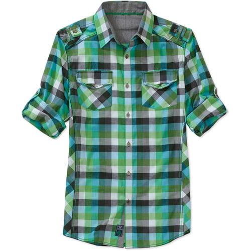 Generic Men's Long-sleeve Plaid Shirt