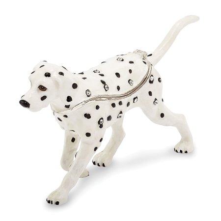 Pewter Enamel Dalmatian Trinket Box