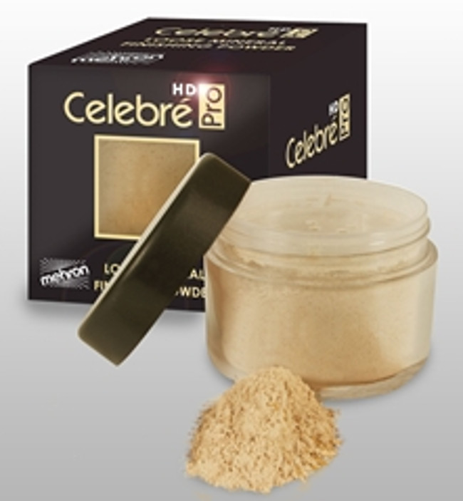 Celebre Loose Mineral Finish Powder Saffron Mehron Pro HD Finishing Matte Makeup
