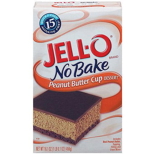 Jell-O No Bake Dessert Mix Peanut Butter Cup, 16.1 Oz