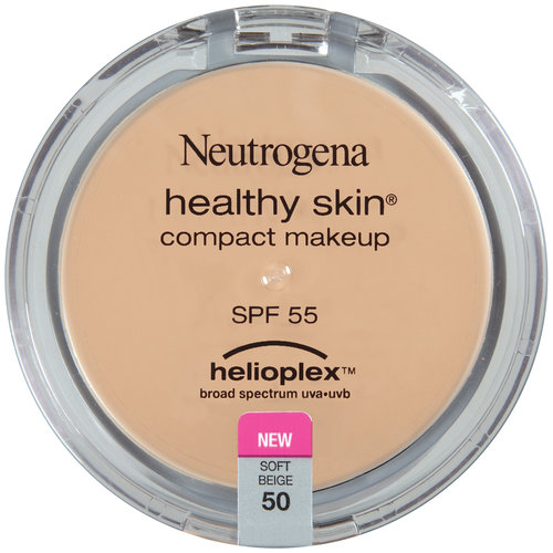 Neutrogena Healthy Skin Compact Makeup Broad Spectrum SPF 55, Soft Beige 50, 0.35 oz
