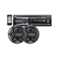 "Blaupunkt Omaha206 CD & MP3 Receiver with Pair 6.5"" 4-Way Speaker Bundle"