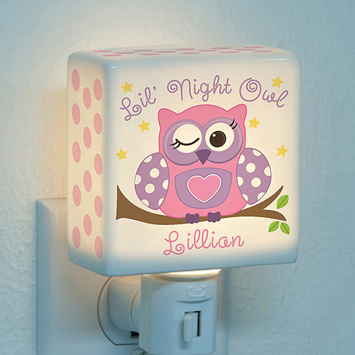 Personalized Night Light - Lil' Night Owl For Girls