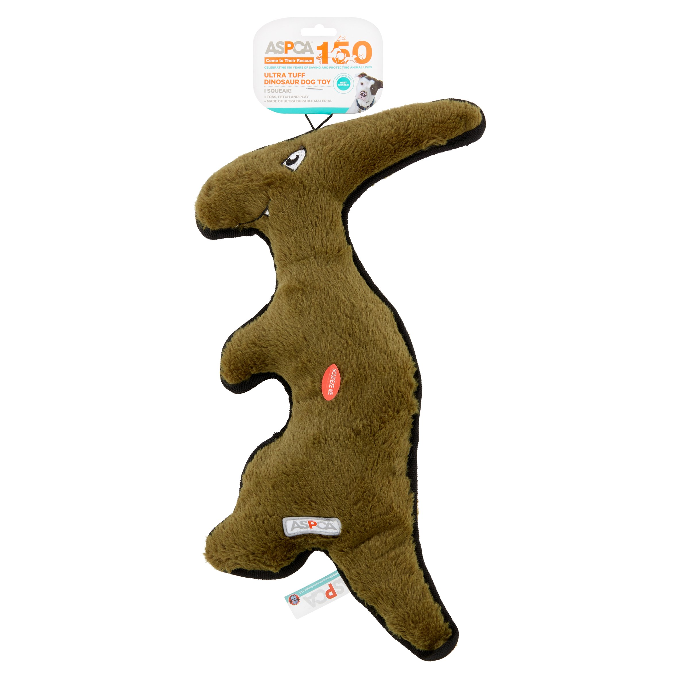 ASPCA Gray Ultra Tuff Dinosaur Dog Toy