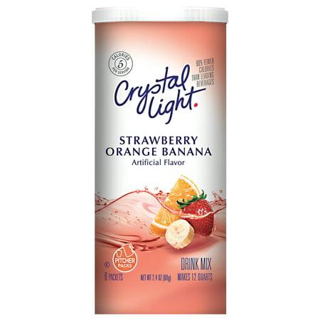 Crystal Light Sugar Free Strawberry Orange Banana Drink