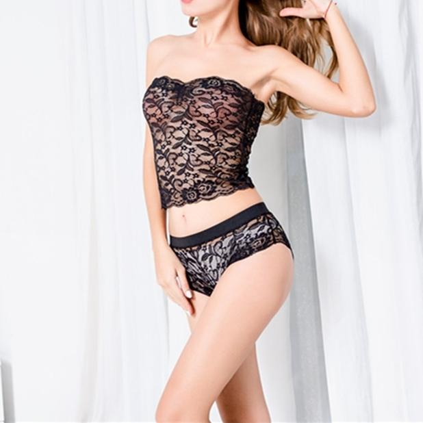 Women Sheer Lingerie Floral Stretch Panties Perspective Boxer Briefs Underpants