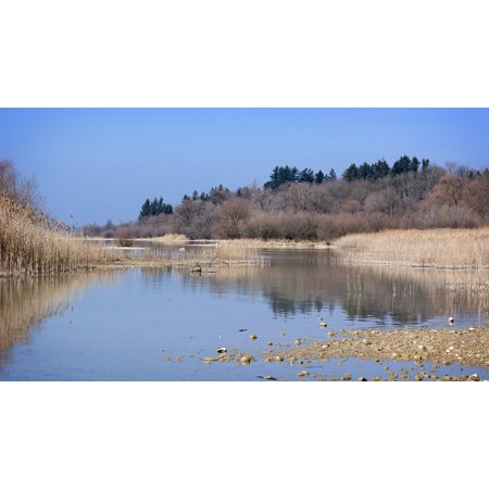 Framed Art for Your Wall Nature Lake Landscape Chiemsee Bavaria Beach Bank 10x13