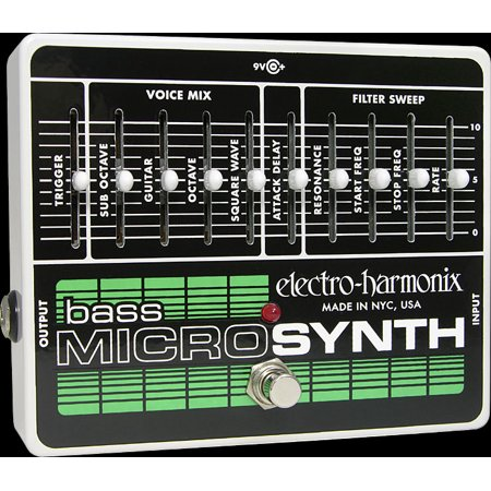 Electro Harmonix Bass MicroSynth w/ Power Supply Analog Bass Guitar Synth Pedal Part Number: