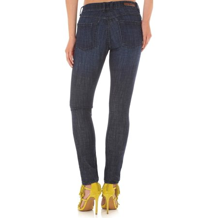 Destructed Womens Jeans (Wrangler Women's Destructed Dark Skinny Jeans - 09Mwssp (1 x 33L, Indigo) )