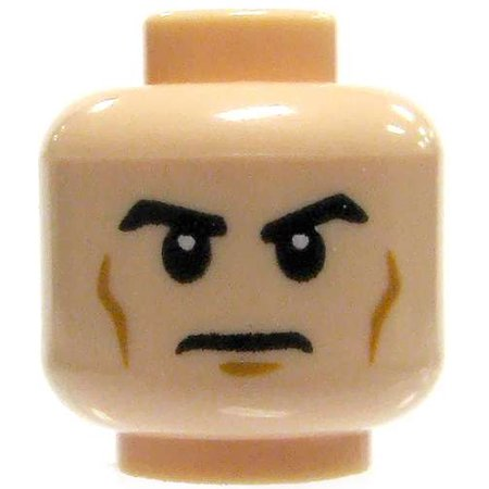 LEGO Minifigure Parts Light Flesh with Determined Look -