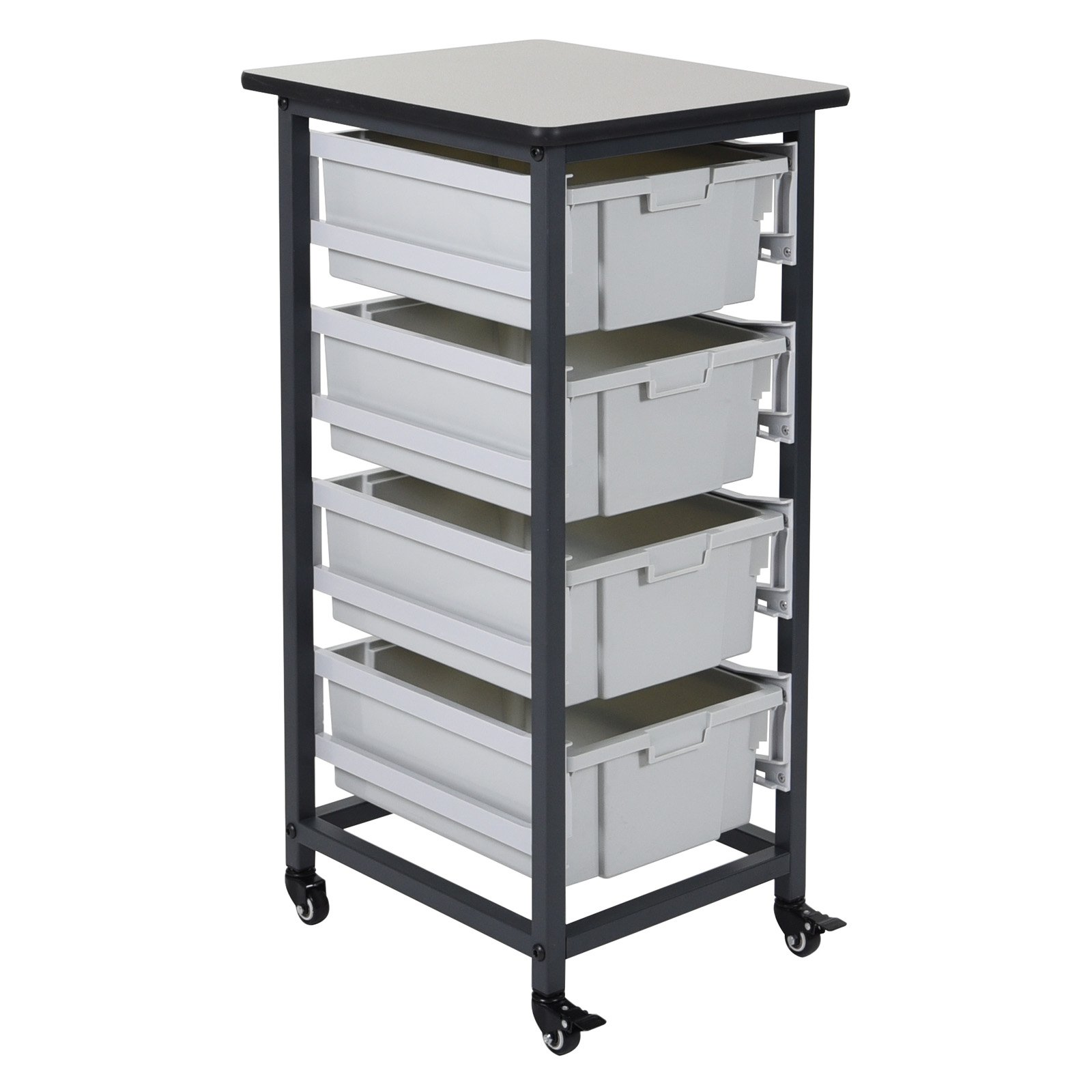 Luxor 4 Drawer Single Row Mobile Bin System