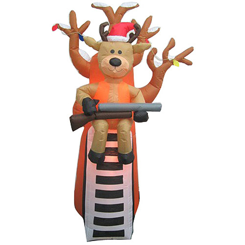 Airblown Inflatables 7' Reindeer in Tree Stand