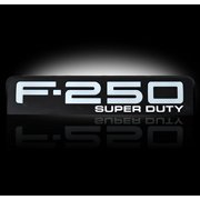 08-10 Ford F250 Illuminated Emblems 2-Piece Kit Includes Driver And Passenger Side Fender Emblems In Black Chrome - Illu