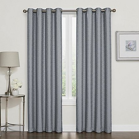 Darcy 120-Inch Blackout Grommet Top Window Curtain Panel in Slate