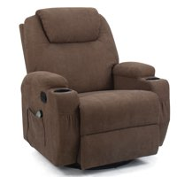 Walnew Executive Swivel Recliner with Massage Heating Function, Huge Headrest and Thick Armrests