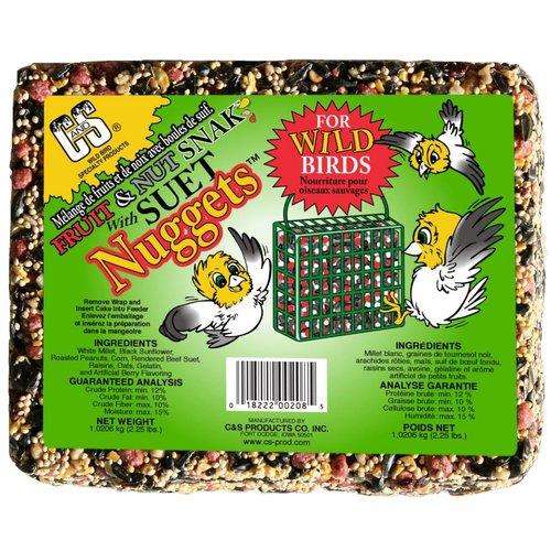 C&S Fruit & Nut Snak w Suet Nuggets, 2.25 lb by C&S Products Co. Inc.