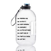 ankishi Portable Water Bottle 1 Gallon Sports Water Jug with Time Marker for Outdoor Camping