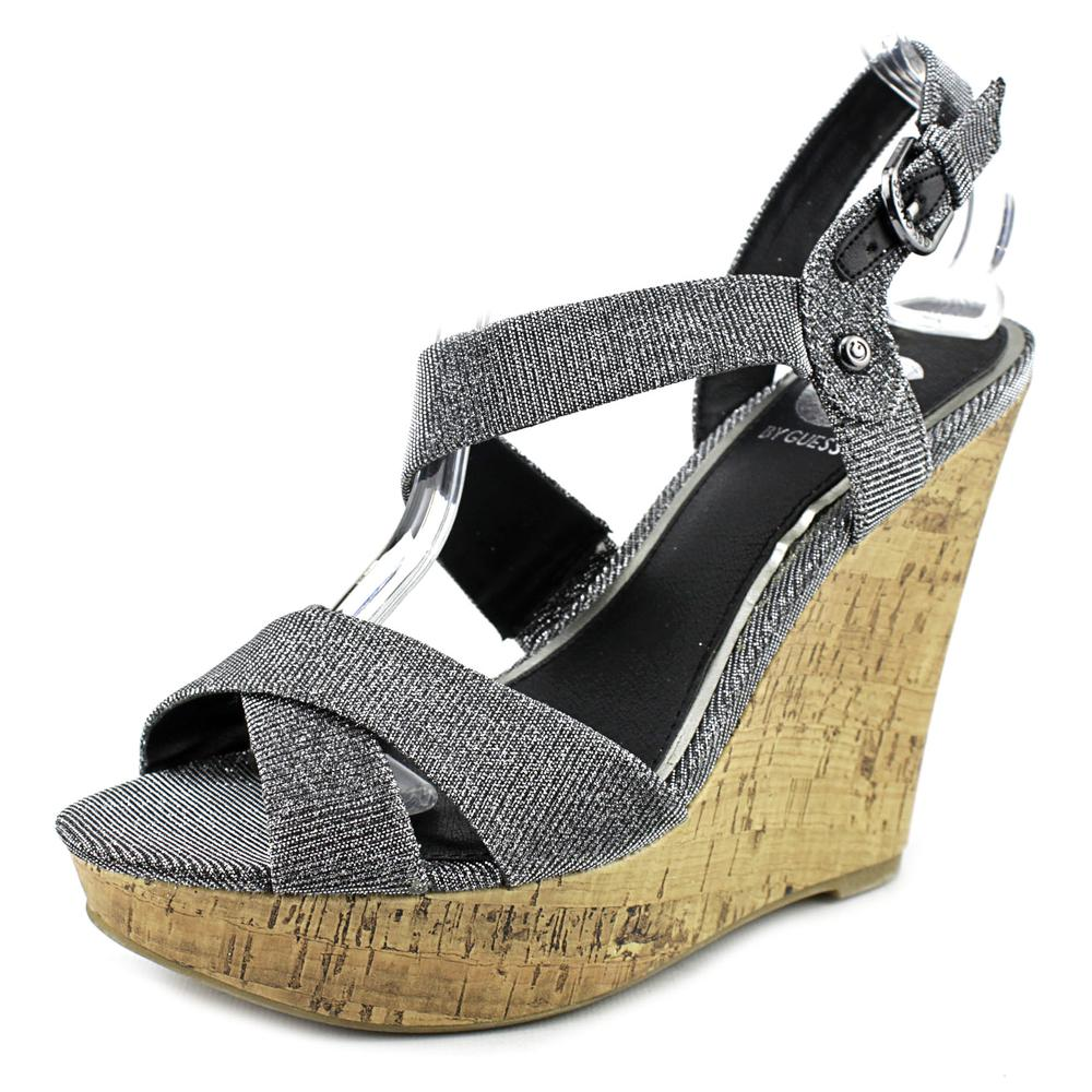 G By Guess Elsie Women  Open Toe Canvas  Wedge Sandal