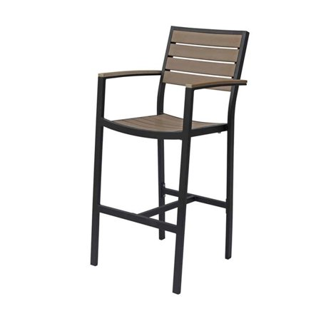 Source Contract SC-2405-173-BLK-GRY Napa Bar Arm Chair, Black & Gray ()