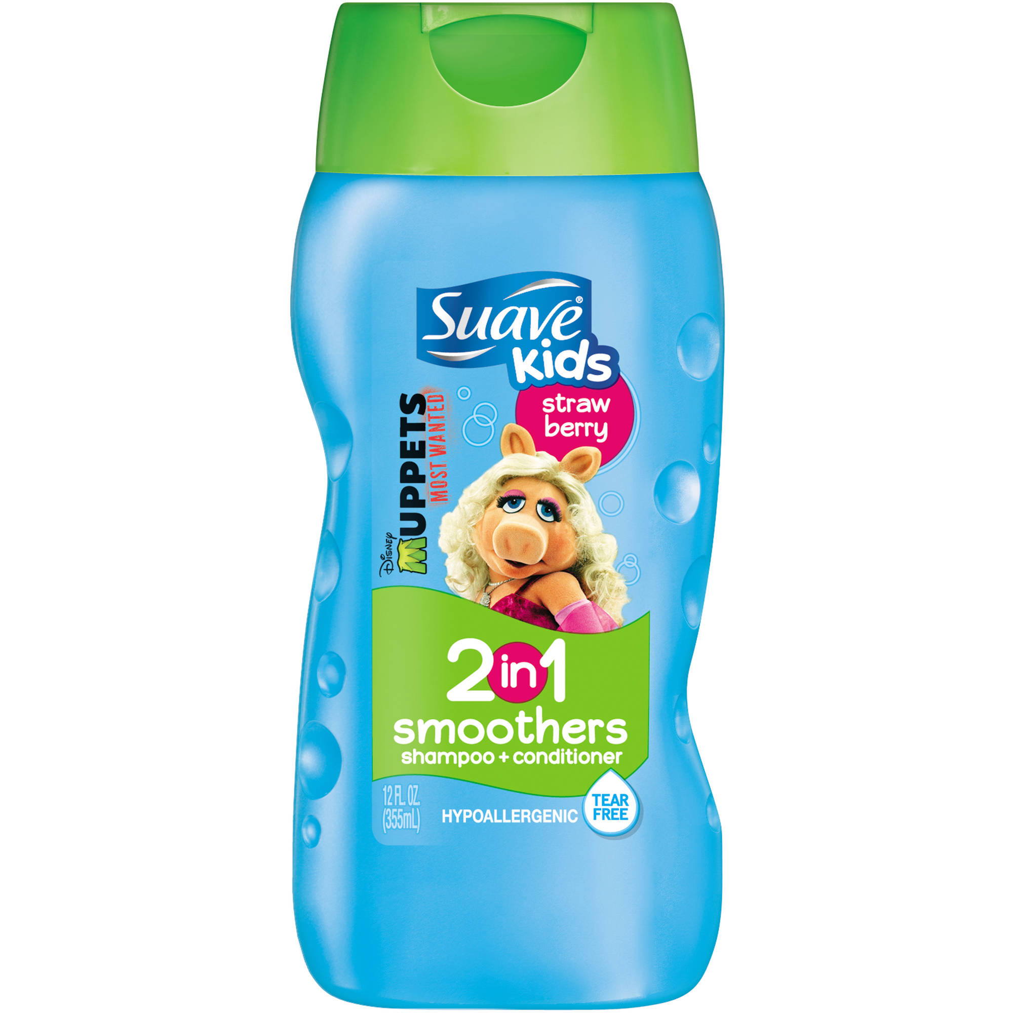 Suave Kids Strawberry Smoothers 2 in 1 Shampoo + Conditioner, 12 fl oz
