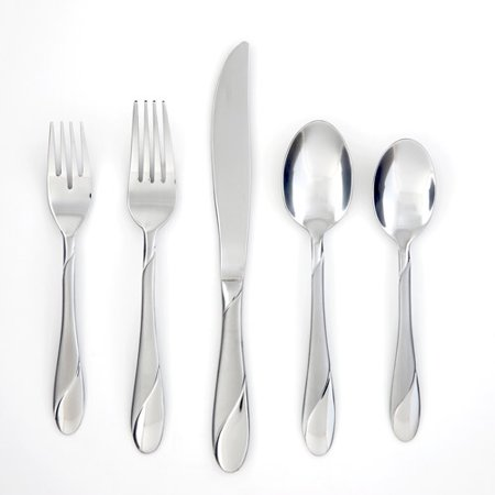 Cambridge Silversmiths Swirl Sand 20-Piece Flatware Set