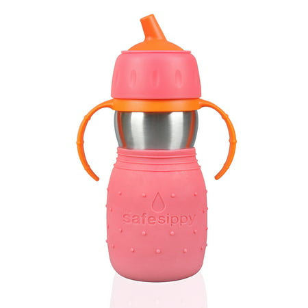 Kid Basix by New Wave Safe Sippy - Stainless Steel Sippy Cup for Baby &