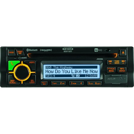 JENSEN JHD36AB AM/FM/WB/CD/RBDS/USB/AUX-IN/App Ready/SiriusXM Ready/iPod & iPhone Ready/Bluetooth Stereo Radio, 12V (Fm Radio App For Iphone Without Internet)