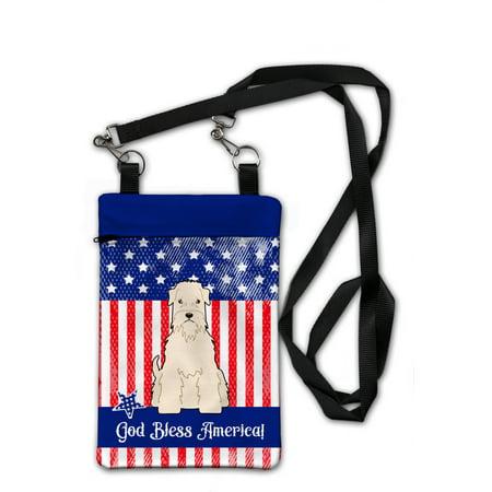Boston Terrier Purse - Patriotic USA Soft Coated Wheaten Terrier Crossbody Bag Purse BB3056OBDY