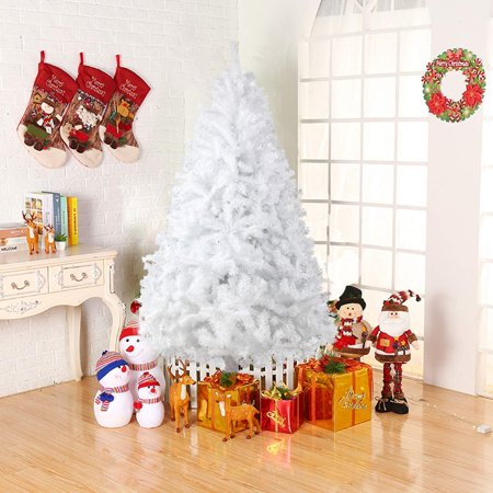 Ktaxon 7.5 Feet Christmas Tree, Artificial Christmas Pine Tree Full Branch 1200 Tips with Solid Metal Stand for Xmas Day New Year DIY Festival Decor, Indoor and Outdoor Decoration ()