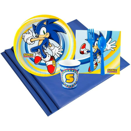 Sonic the HedgeHog 8 Party Pack - Sonic The Hedgehog Birthday Party