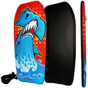 "BIGTREE 37"" Bodyboard Kickboard Surfing Skimboard Wake Boogie Board Pool Toy Shark"