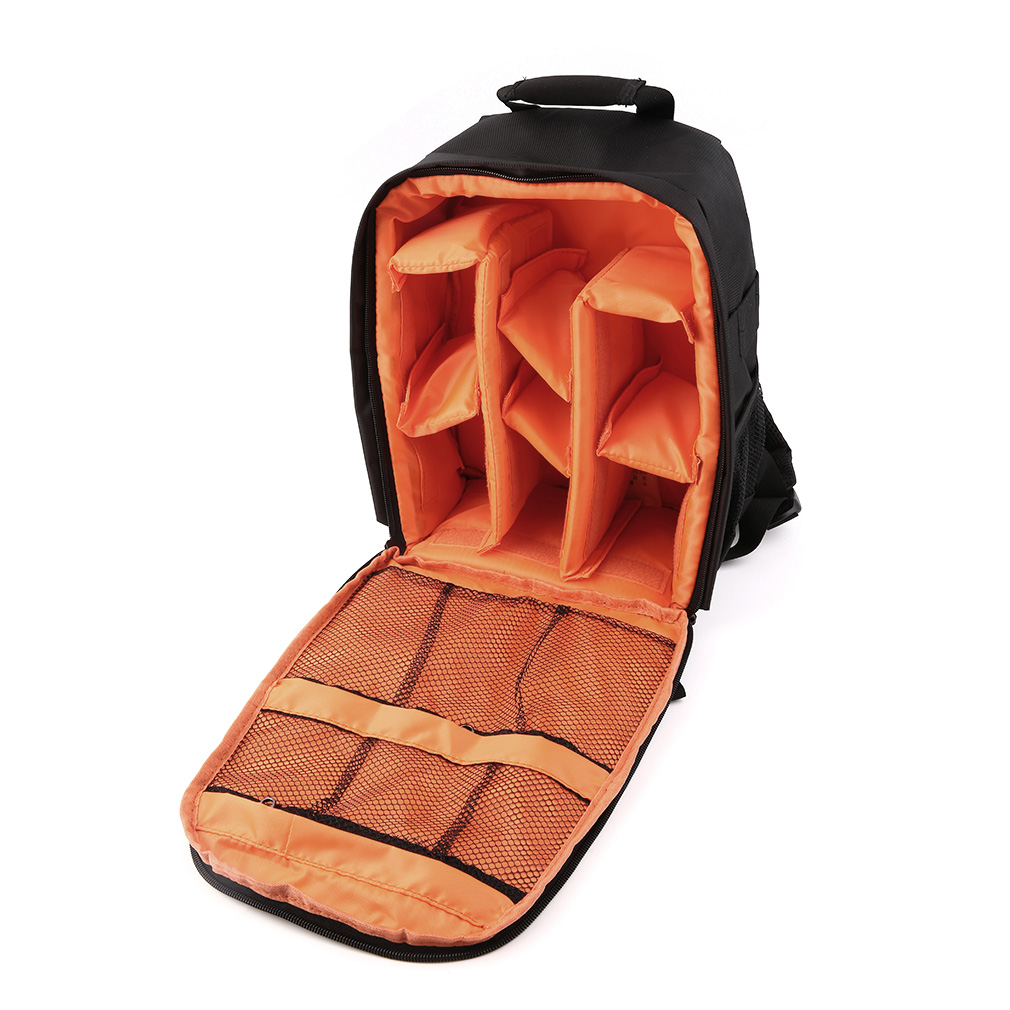Camera Backpack Bags Waterproof DSLR Bag Case for Canon Nikon Sony Orange