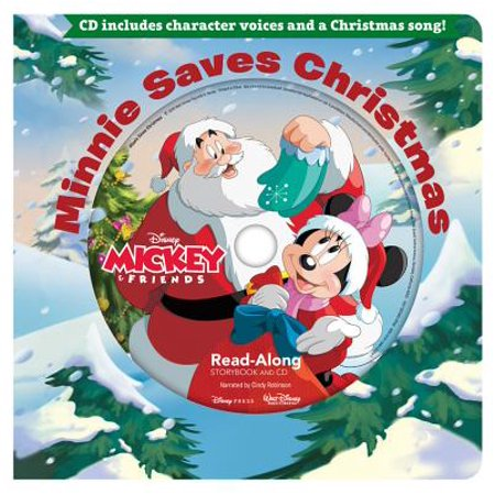 Minnie Saves Christmas Read-Along Storybook & CD (Board Book) (Halloween Story Read Along)