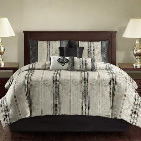 Mainstays  Piece Damask Bedding Comforter Set