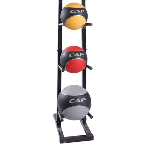 Definity 24 lbs Colored Medicine Ball Set with Rack
