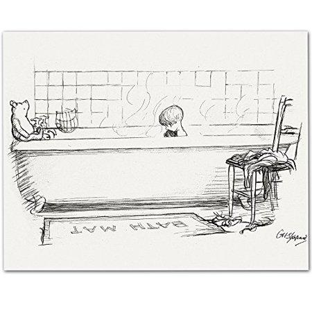 Bath Mat Winnie The Pooh 11x14 Unframed Great Child 39 S Bathroom Decor