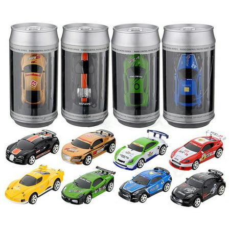 Christmas Gift Coke Can Mini RC Radio Remote Control Micro Racing Car Hobby kids Gift Toy-Random MHZ