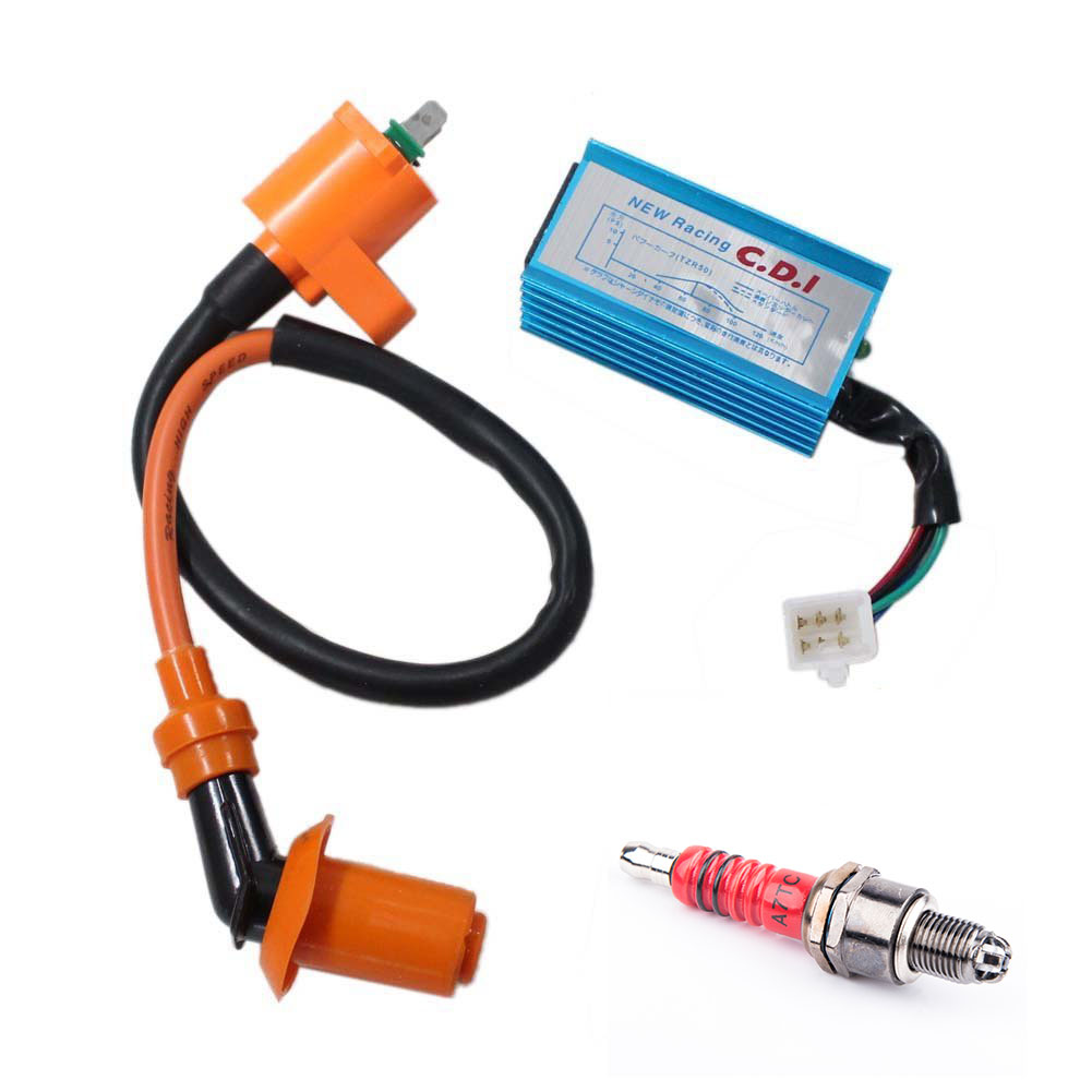 High Performance Racing Ignition Coil Spark Plug A7TC CDI GY6 50cc 125cc 150cc for 4-stroke Engines Scooter... by UMPARTS