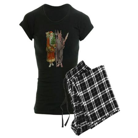 Krampus Suit (CafePress - Krampus And Santa Claus Are Here Pajamas - Women's Dark)