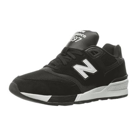 New Balance ML597 Men's Modern Classics Fashion Sneaker, 9D US, Black /  White