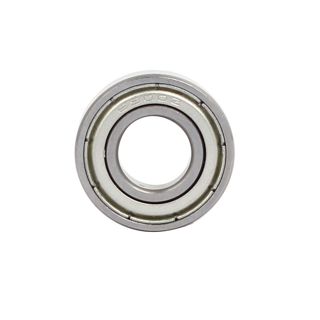 6900ZZ Steel Shielded Deep Groove Ball Bearings Silver Tone 22mmx10mmx6mm 10pcs